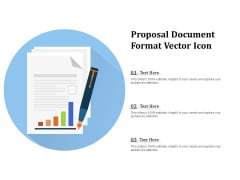 Proposal Document Format Vector Icon Ppt PowerPoint Presentation Pictures Mockup