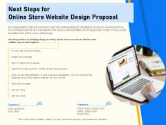 Proposal For Ecommerce Website Development Next Steps For Online Store Website Design Proposal Sample PDF