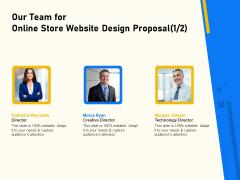 Proposal For Ecommerce Website Development Our Team For Online Store Website Design Proposal Teamwork Portrait PDF