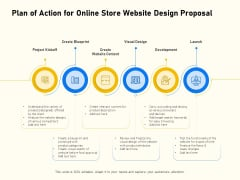 Proposal For Ecommerce Website Development Plan Of Action For Online Store Website Design Proposal Ideas PDF