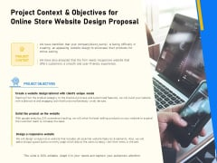 Proposal For Ecommerce Website Development Project Context And Objectives For Online Store Website Design Proposal Sample PDF