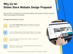Proposal For Ecommerce Website Development Why Us For Online Store Website Design Proposal Designs PDF