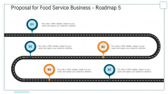 Proposal For Food Service Business Roadmap Five Stage Process Ppt Gallery Good PDF