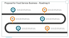 Proposal For Food Service Business Roadmap Six Stage Process Ppt Styles Gridlines PDF