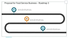 Proposal For Food Service Business Roadmap Three Stage Process Ppt Infographics Infographic Template PDF