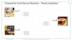 Proposal For Food Service Business Theme Inspiration Ppt Infographics Templates PDF