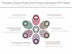 Proposal Ground Rules And Pricing Instructions Ppt Slides