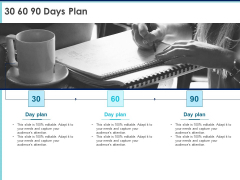 Proposal Template For Accounting Services 30 60 90 Days Plan Ppt Portfolio Master Slide PDF