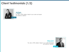 Proposal Template For Accounting Services Client Testimonials Management Ppt Ideas File Formats PDF
