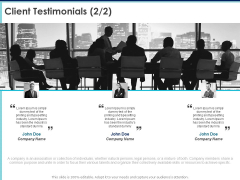 Proposal Template For Accounting Services Client Testimonials Printing Ppt Slides PDF