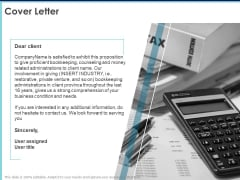 Proposal Template For Accounting Services Cover Letter Ppt Portfolio Guide PDF