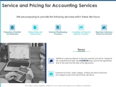 Proposal Template For Accounting Services Service And Pricing For Accounting Services Ppt File Templates PDF