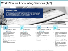 Proposal Template For Accounting Services Work Plan For Accounting Services Overall Ppt Infographic Template Graphics PDF