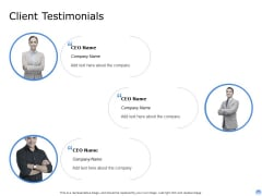 Proposal To Brand Company Professional Services Client Testimonials Template PDF