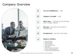 Proposal To Brand Company Professional Services Company Overview Pictures PDF