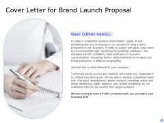 Proposal To Brand Company Professional Services Cover Letter For Brand Launch Proposal Sample PDF