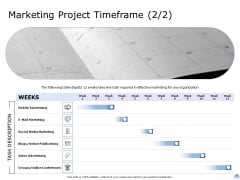 Proposal To Brand Company Professional Services Marketing Project Timeframe Video Rules PDF
