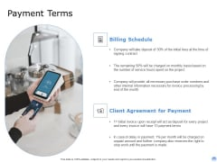 Proposal To Brand Company Professional Services Payment Terms Diagrams PDF