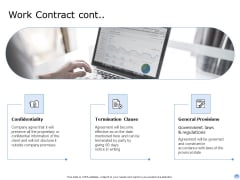 Proposal To Brand Company Professional Services Work Contract Cont Template PDF