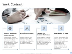 Proposal To Brand Company Professional Services Work Contract Demonstration PDF