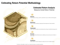 Proposal To Provide Financial Advisory And Bond Estimating Return Potential Methodology Professional PDF
