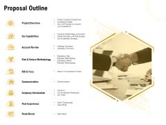 Proposal To Provide Financial Advisory And Bond Proposal Outline Slides PDF
