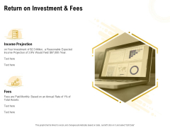 Proposal To Provide Financial Advisory And Bond Return On Investment And Fees Formats PDF