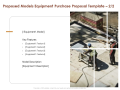 Proposed Models Equipment Purchase Proposal Key Ppt Gallery Demonstration PDF
