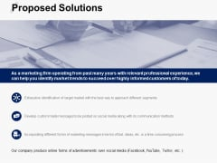 Proposed Solutions Communication Ppt PowerPoint Presentation Gallery Skills