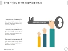 Proprietary Technology Expertise Ppt PowerPoint Presentation Model