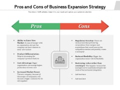 Pros And Cons Of Business Expansion Strategy Ppt PowerPoint Presentation File Graphics PDF