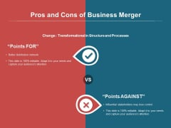 Pros And Cons Of Business Merger Ppt PowerPoint Presentation Icon Pictures PDF