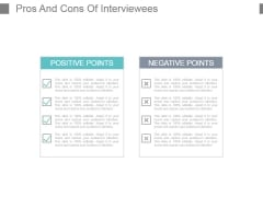 Pros And Cons Of Interviewees Powerpoint Slide Templates Download