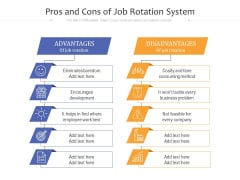 Pros And Cons Of Job Rotation System Ppt PowerPoint Presentation Gallery Show PDF