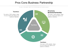Pros Cons Business Partnership Ppt PowerPoint Presentation Ideas Display Cpb Pdf