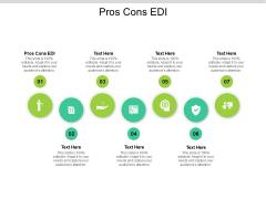 Pros Cons EDI Ppt PowerPoint Presentation Gallery Mockup Cpb Pdf