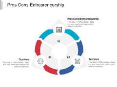 Pros Cons Entrepreneurship Ppt PowerPoint Presentation Ideas Example File Cpb