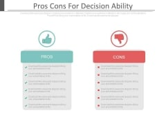 Pros Cons For Decision Ability Ppt Slides