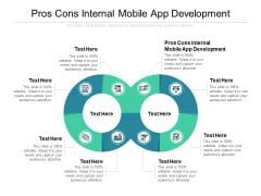 Pros Cons Internal Mobile App Development Ppt PowerPoint Presentation Gallery Layout Ideas Cpb