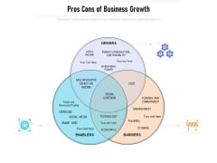 Pros Cons Of Business Growth Ppt PowerPoint Presentation Icon Structure