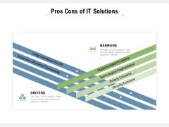 Pros Cons Of IT Solutions Ppt PowerPoint Presentation Professional Rules