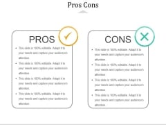 Pros Cons Ppt PowerPoint Presentation Gallery Outfit