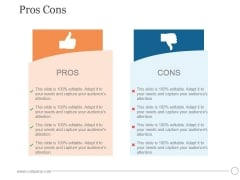 Pros Cons Ppt PowerPoint Presentation Ideas