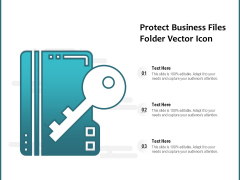 Protect Business Files Folder Vector Icon Ppt PowerPoint Presentation Infographics Backgrounds PDF