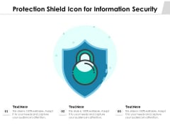 Protection Shield Icon For Information Security Ppt PowerPoint Presentation File Background PDF