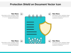 Protection Shield On Document Vector Icon Ppt PowerPoint Presentation Icon Layouts PDF