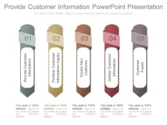 Provide Customer Information Powerpoint Presentation
