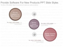 Provide Software For New Products Ppt Slide Styles