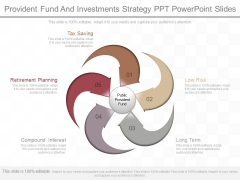 Provident Fund And Investments Strategy Ppt Powerpoint Slides