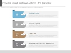 Provider Cloud Watson Explorer Ppt Samples